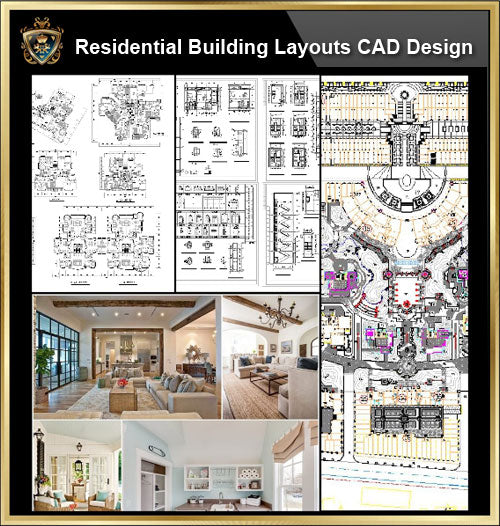 ★【Large Scale Residential Building Plan,Architecture Layout,Building Plan Design CAD Design,Details Collection】@Autocad Blocks,Drawings,CAD Details,Elevation