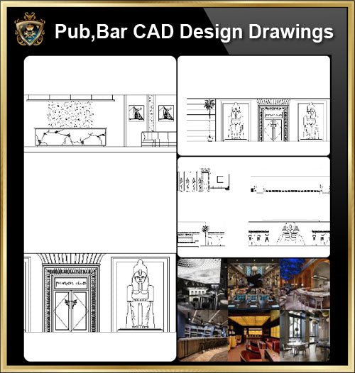 ★【Pub,Bar,Restaurant CAD Design Drawings V.2】@Pub,Bar,Restaurant,Store design-Autocad Blocks,Drawings,CAD Details,Elevation