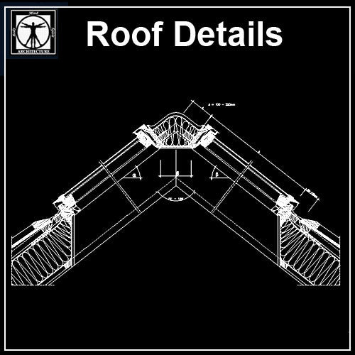 Free Roof Details 3 - CAD Design | Download CAD Drawings | AutoCAD Blocks | AutoCAD Symbols | CAD Drawings | Architecture Details│Landscape Details | See more about AutoCAD, Cad Drawing and Architecture Details