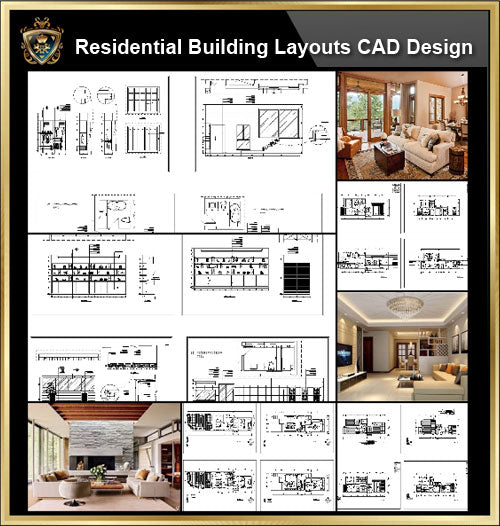 ★【Interior Design CAD Design,Details,Elevation Collection V.2】Residential Building,Living room,Bedroom,Restroom,Decoration@Autocad Blocks,Drawings,CAD Details,Elevation - CAD Design | Download CAD Drawings | AutoCAD Blocks | AutoCAD Symbols | CAD Drawings | Architecture Details│Landscape Details | See more about AutoCAD, Cad Drawing and Architecture Details