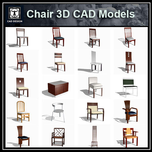 Chair 3D Cad Models - CAD Design | Download CAD Drawings | AutoCAD Blocks | AutoCAD Symbols | CAD Drawings | Architecture Details│Landscape Details | See more about AutoCAD, Cad Drawing and Architecture Details