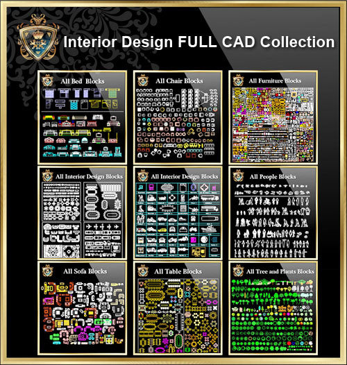 【Interior Design Full CAD Blocks Collections】  (Best Collections!!)