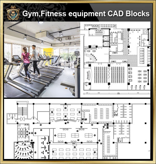 ★【Gym,Fitness equipment CAD Blocks Bundle-Stadium,Gymnasium, playground, sports hall】@Gem CAD Blocks,Autocad Blocks,Drawings,CAD Details