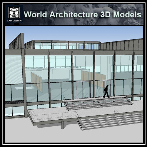 Sketchup 3D Architecture models- Illinois Institute of Technology (Mies Van Der Rohe )