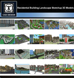 【Sketchup 3D Models】20 Types of Residential Building Landscape Sketchup 3D Models  V.6 - CAD Design | Download CAD Drawings | AutoCAD Blocks | AutoCAD Symbols | CAD Drawings | Architecture Details│Landscape Details | See more about AutoCAD, Cad Drawing and Architecture Details