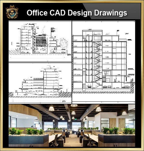 ★【Office, Commercial building, mixed business building CAD Design Project V.9】@Autocad Blocks,Drawings,CAD Details,Elevation