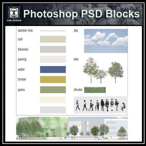Photoshop PSD Architecture Elevation Blocks V1(Recommand!!)
