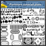 Furniture autocad plans