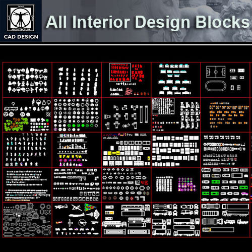 All Interior Design Blocks 2 - CAD Design | Download CAD Drawings | AutoCAD Blocks | AutoCAD Symbols | CAD Drawings | Architecture Details│Landscape Details | See more about AutoCAD, Cad Drawing and Architecture Details
