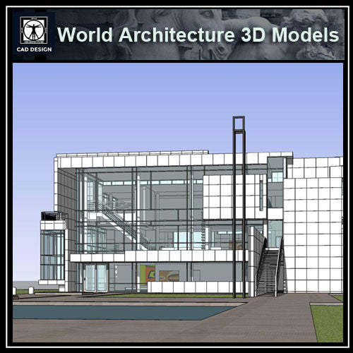 Sketchup 3D Architecture models- Rachofsky House(Richard Meier)