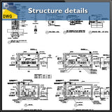Structure details - CAD Design | Download CAD Drawings | AutoCAD Blocks | AutoCAD Symbols | CAD Drawings | Architecture Details│Landscape Details | See more about AutoCAD, Cad Drawing and Architecture Details