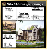 ★【Villa CAD Design,Details Project V.4-England Manor Style】Chateau,Manor,Mansion,Villa@Autocad Blocks,Drawings,CAD Details,Elevation - CAD Design | Download CAD Drawings | AutoCAD Blocks | AutoCAD Symbols | CAD Drawings | Architecture Details│Landscape Details | See more about AutoCAD, Cad Drawing and Architecture Details