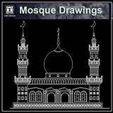 Mosque Cad Drawings