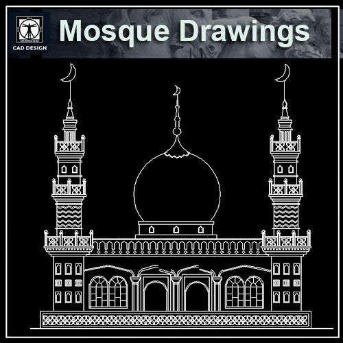 Mosque Cad Drawings - CAD Design | Download CAD Drawings | AutoCAD Blocks | AutoCAD Symbols | CAD Drawings | Architecture Details│Landscape Details | See more about AutoCAD, Cad Drawing and Architecture Details