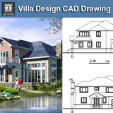 Villa Design CAD Drawings V14 - CAD Design | Download CAD Drawings | AutoCAD Blocks | AutoCAD Symbols | CAD Drawings | Architecture Details│Landscape Details | See more about AutoCAD, Cad Drawing and Architecture Details