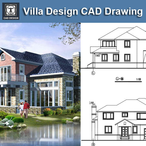 Villa Design CAD Drawings V14