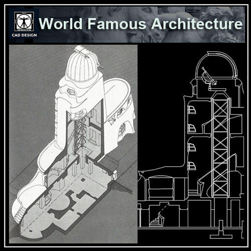 Einstein Tower - CAD Design | Download CAD Drawings | AutoCAD Blocks | AutoCAD Symbols | CAD Drawings | Architecture Details│Landscape Details | See more about AutoCAD, Cad Drawing and Architecture Details