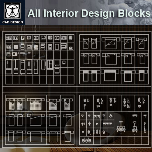 All Interior Design Blocks 5 - CAD Design | Download CAD Drawings | AutoCAD Blocks | AutoCAD Symbols | CAD Drawings | Architecture Details│Landscape Details | See more about AutoCAD, Cad Drawing and Architecture Details
