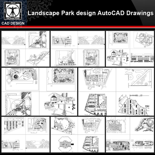 ★【Landscape Park Design Autocad Drawings Collections】All kinds of Landscape CAD Drawings - CAD Design | Download CAD Drawings | AutoCAD Blocks | AutoCAD Symbols | CAD Drawings | Architecture Details│Landscape Details | See more about AutoCAD, Cad Drawing and Architecture Details