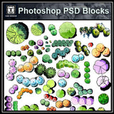 Hand-painted PSD Landscape Blocks 2