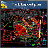Park Lay-out plan drawing - CAD Design | Download CAD Drawings | AutoCAD Blocks | AutoCAD Symbols | CAD Drawings | Architecture Details│Landscape Details | See more about AutoCAD, Cad Drawing and Architecture Details
