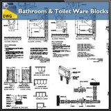 Bathroom & toilet Ware Block file