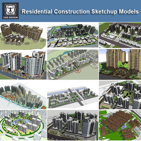 ●Residential Construction Sketchup 3D Models