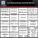 ★【Iron Railing Design Autocad Blocks Collections】All kinds of Forged iron gate CAD Blocks - CAD Design | Download CAD Drawings | AutoCAD Blocks | AutoCAD Symbols | CAD Drawings | Architecture Details│Landscape Details | See more about AutoCAD, Cad Drawing and Architecture Details