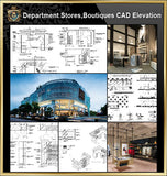 ★【Shopping Centers, Department Stores,Boutiques CAD Design,Blocks,Details Elevation Collection】@Boutiques, clothing stores, women's wear, men's wear, store design-Autocad Blocks,Drawings,CAD Details,Elevation