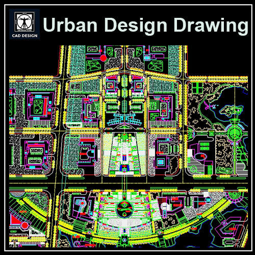 Urban City Design 4 - CAD Design | Download CAD Drawings | AutoCAD Blocks | AutoCAD Symbols | CAD Drawings | Architecture Details│Landscape Details | See more about AutoCAD, Cad Drawing and Architecture Details