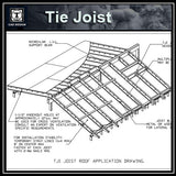 CAD Details Collection-Tie Joist - CAD Design | Download CAD Drawings | AutoCAD Blocks | AutoCAD Symbols | CAD Drawings | Architecture Details│Landscape Details | See more about AutoCAD, Cad Drawing and Architecture Details