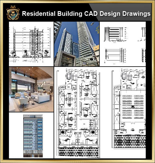 ★【Residential Building CAD Design Collection V.1】Layout,Lobby,Room design,Public facilities,Counter@Autocad Blocks,Drawings,CAD Details,Elevation