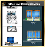 ★【Office, Commercial building, mixed business building CAD Design Project V.4】@Autocad Blocks,Drawings,CAD Details,Elevation