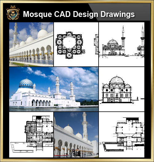 ★【Mosque CAD Drawings,Details V.2】@CAD Design drawings - CAD Design | Download CAD Drawings | AutoCAD Blocks | AutoCAD Symbols | CAD Drawings | Architecture Details│Landscape Details | See more about AutoCAD, Cad Drawing and Architecture Details