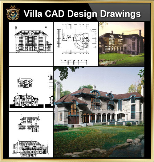 ★【Villa CAD Design,Details Project V.3-Italian Tuscany Style】Chateau,Manor,Mansion,Villa@Autocad Blocks,Drawings,CAD Details,Elevation - CAD Design | Download CAD Drawings | AutoCAD Blocks | AutoCAD Symbols | CAD Drawings | Architecture Details│Landscape Details | See more about AutoCAD, Cad Drawing and Architecture Details