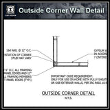 Free CAD Details-Outside Corner Wall Detail
