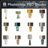 Photoshop PSD Table_Lamps Blocks - CAD Design | Download CAD Drawings | AutoCAD Blocks | AutoCAD Symbols | CAD Drawings | Architecture Details│Landscape Details | See more about AutoCAD, Cad Drawing and Architecture Details