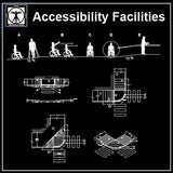 Free Accessibility Facilities V1 - CAD Design | Download CAD Drawings | AutoCAD Blocks | AutoCAD Symbols | CAD Drawings | Architecture Details│Landscape Details | See more about AutoCAD, Cad Drawing and Architecture Details