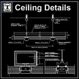 Free Ceiling Details 2 - CAD Design | Download CAD Drawings | AutoCAD Blocks | AutoCAD Symbols | CAD Drawings | Architecture Details│Landscape Details | See more about AutoCAD, Cad Drawing and Architecture Details