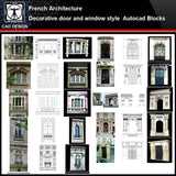 ★【French Architecture Style Design】French architecture · Decorative door and window style CAD Drawings - CAD Design | Download CAD Drawings | AutoCAD Blocks | AutoCAD Symbols | CAD Drawings | Architecture Details│Landscape Details | See more about AutoCAD, Cad Drawing and Architecture Details