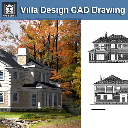 Villa Design CAD Drawings V11