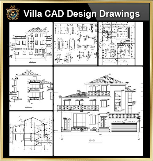 ★【Villa CAD Design,Details Project V.9】Chateau,Manor,Mansion,Villa@Autocad Blocks,Drawings,CAD Details,Elevation - CAD Design | Download CAD Drawings | AutoCAD Blocks | AutoCAD Symbols | CAD Drawings | Architecture Details│Landscape Details | See more about AutoCAD, Cad Drawing and Architecture Details