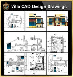 ★【Villa CAD Design,Details Project V.17】Chateau,Manor,Mansion,Villa@Autocad Blocks,Drawings,CAD Details,Elevation