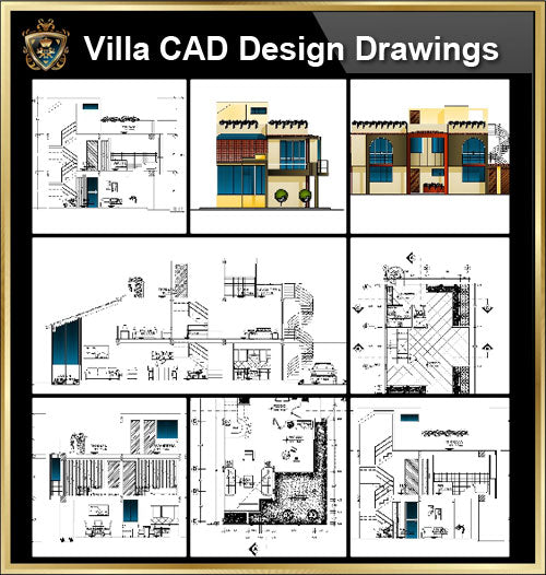 ★【Villa CAD Design,Details Project V.17】Chateau,Manor,Mansion,Villa@Autocad Blocks,Drawings,CAD Details,Elevation - CAD Design | Download CAD Drawings | AutoCAD Blocks | AutoCAD Symbols | CAD Drawings | Architecture Details│Landscape Details | See more about AutoCAD, Cad Drawing and Architecture Details