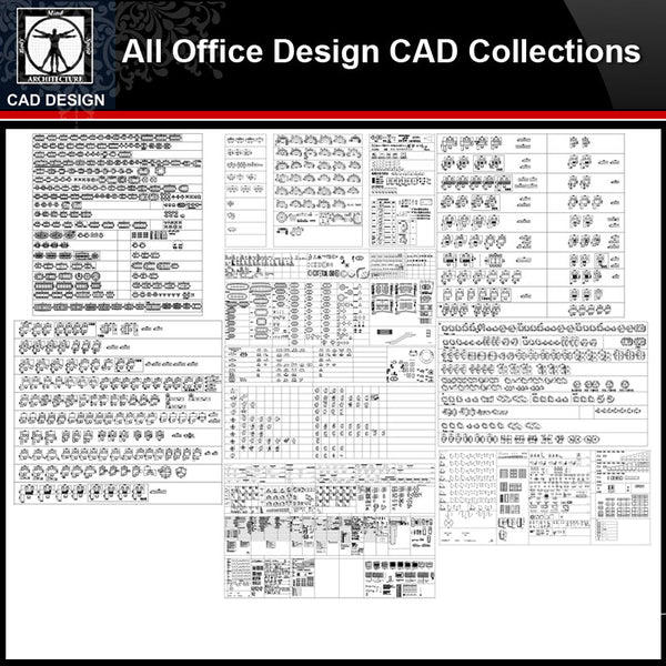 ★【Office Design Gallery Autocad Blocks,Drawings】All Office layout elements Bundle - CAD Design | Download CAD Drawings | AutoCAD Blocks | AutoCAD Symbols | CAD Drawings | Architecture Details│Landscape Details | See more about AutoCAD, Cad Drawing and Architecture Details