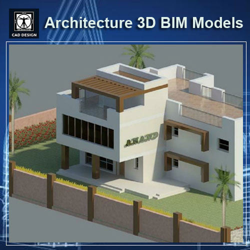 Villa Design-Architecture BIM 3D Models - CAD Design | Download CAD Drawings | AutoCAD Blocks | AutoCAD Symbols | CAD Drawings | Architecture Details│Landscape Details | See more about AutoCAD, Cad Drawing and Architecture Details