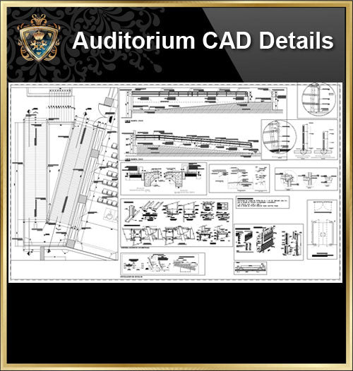★【Auditorium CAD Details】@Auditorium Design,Autocad Blocks,AuditoriumDetails,Auditorium Section,Auditorium elevation design drawings