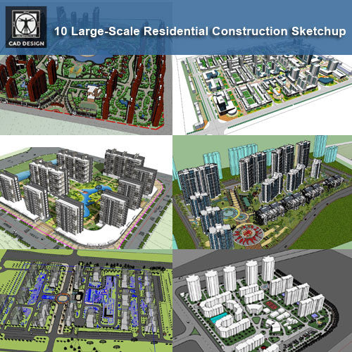 Home Design Software Sketchup: 【10 Large-Scale Residential Construction And Landscape