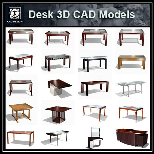 Desk 3D Cad Models