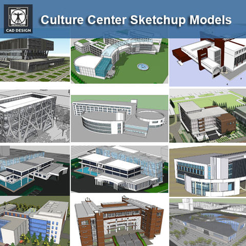 ●Culture Center Sketchup 3D Models